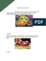 Comida Tipica de Guatemala