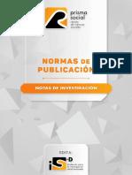 Normas Notas de Investigación Revista Prisma Social