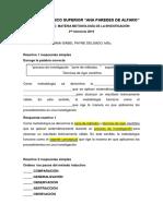 Reactivos Metodologia de La Investigacion y Examenes II Interciclo 2019
