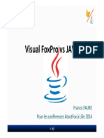 VFP vs Java Session Pour AtoutFox Lille Mars 2014
