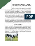 Eficiencia Corregido Productiva y Economica de Las Microcuencas Lecheras de La Region Puno