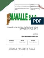 Plan de Respuesta a Emergencia de La Empresa Mavalle s 2222222222222222