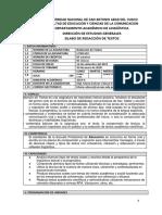 Esquema de Silabo de Redaccion de Textos 2019-II