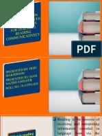 reading comprehension skill