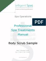 Intelligentspas Professional Spa Treatments Manual Body Scrub Sample