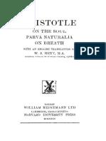 Aristotle on the Soul Les Belles Lettres