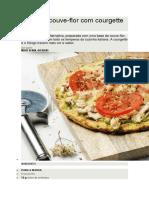 Pizza de Couve-flor Com Courgette e Frango