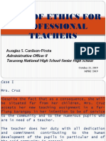 MPRE Code of Conduct for Professional Teachers