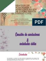 Creacion de Asociaciones y Sociedades Civiles Sin Fines de Lucro Según El Codigo Civil