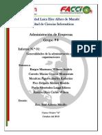 Generalidades de la administración y las organizaciones