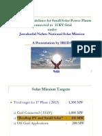 Draft Guidelines for Solar GBI_11 kV Scheme-IREDA