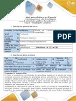 Guía de Actividades y Rúbrica de Evaluación - Fase 3- Investigar y Construir