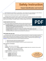 Hazard Identification and Control Si