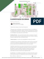 Classificação de Areas