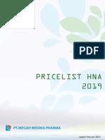 Pricelist MMP 2019 - Reguler HNA