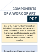 4 Lecture 4 Basic Components of a Work of Art