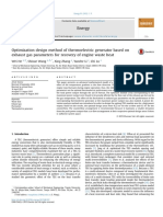 Optimization Design Method of Thermoelectric Generator Based on Exhaust Gas Parameters for Recovery of Engine Waste Heat
