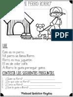 Lecturas Cortas Para Desarrollar La Comprensión Lectora Para Primer Grado (1) - Copiar