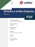 Derecho Empresarial Semana#2 Daniel Cuellar 20941018