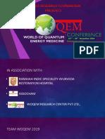 WOQEM 2019 World of Quantem Energy Medicine - Bangalore - India