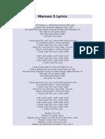 Maroon 5 Lyrics.doc