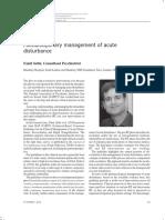 Multidisciplinary Management of Acute Disturbance Sept 18
