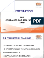 Companies Act 2008 Categories Formation Names