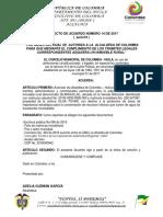 Proyecto de Acuerdo Inmueble Cbia