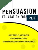 The Persuasion Foundation Formula Final