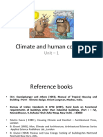 Climate and Human Comfort