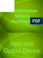 Input and Output Devices presentation for school