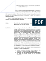 A Project Proposal on the Recruitment of Patrolman