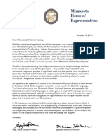 Letter to the Minnesota Historical Society