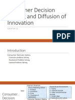 Consumer Decision Making and Diffusion of Innovation Chp 13.ppt
