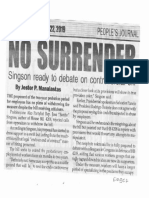 Peoples Journal, Oct. 22, 2019, No Surrender Singson ready to debate on controversial bill.pdf