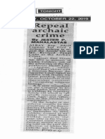 Peoples Tonight, Oct. 22, 2019, Repeal archaic crime.pdf