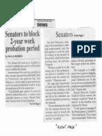 Philippine Star, Oct. 22, 2019, Senator to block 2-year work probation period.pdf