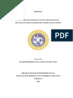Proposal Reboisasi Kawasan Hutan Gunung Penanggungan 1