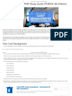PMP Cost Management Study Notes