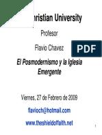 El Posmodernismo y La Iglesia Emergente Flavio Chavez