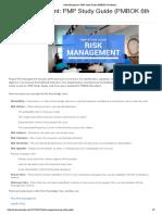 PMP Risk Management Study Notes