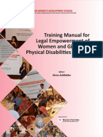 Legal Literacy Manual for Empowerment of Women With Disabilities in India English