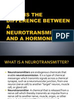 What is the Difference Between Neurotransmitter and Hormones