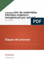 Obtención de Materiales Híbridos Orgánico-Inorgánicos Por Sol-gel