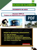 TEMA 4 AGUA POTABLE Regularizacion y Almacenamiento MAFALDA AD 2016