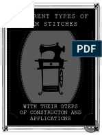 Different Types of Seam Stitches