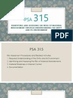 PSA 315 (PART 1)