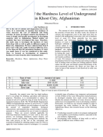 Determination of the Hardness Level of Underground  Water in Khost City, Afghanistan