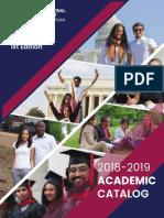 Academic Catalog 18 19