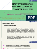 Recent Masters Research Topic Ideas for Computer Science Engineering 2020